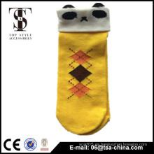 Lindo expresión de tobillo vestido calcetines de algodón de las mujeres de la niña Cara de dibujos animados barco corto calcetín