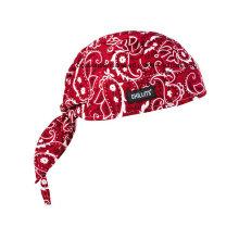 OEM Produce Customized Logo Paisley algodão vermelho Sports Bandana Head Wrap