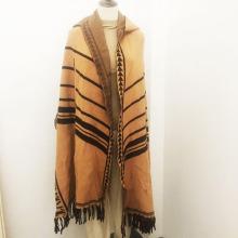 Autumn Knitted Fringe Scarf Custom