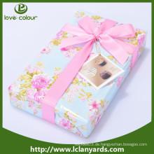 Dekorative Polyester Günstige benutzerdefinierte rosa Satinband