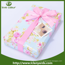 Decorativo de poliéster barato personalizado de satén rosa cinta