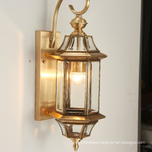 Decorative hotel wall mount lamp glass Modern Brass vintage luxury indoor crystal wall lamp
