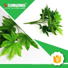 venta al por mayor toque natural palm hojas artificiales para la decoración con UV