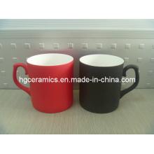 Changement de couleur Fine Bone China Mug; Tasse de porcelaine fine