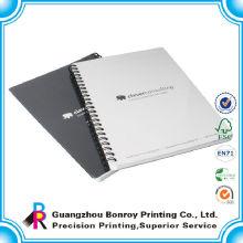 Agenda de impresión personalizada de alta calidad cuaderno espiral reforzado