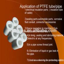 Ptfe tubes produits en porcelaine, ptfe en fibre de carbone remplie ptfe, tube ptfe