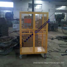 1100X800X1800mm Two Doors Roll Container with Power Painting