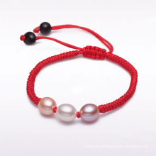Red Thread with Cultured Freshwater Pearl Bracelet, Fashion