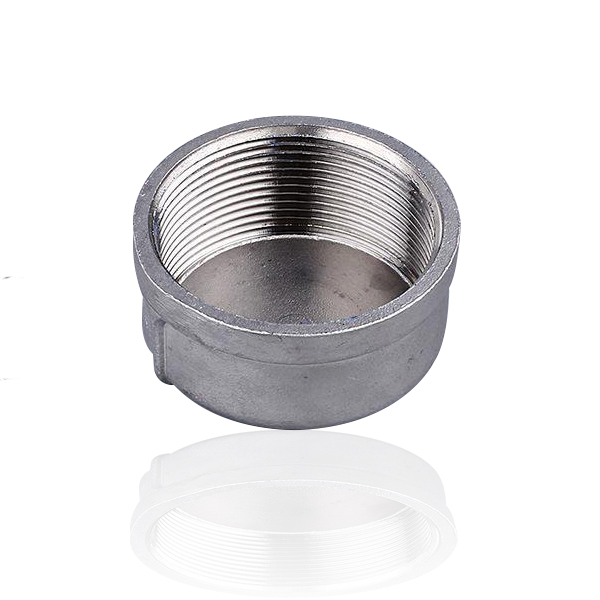 Stainless-steel-threaded-round-pipe-end-cap
