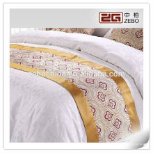 100% Polyester Jacquard Fabric 5 Star Hotel Used High Quality Bed Runner