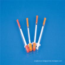 Jeringa de insulina (0.3ml, 0.5ml, 1ml) con CE / ISO