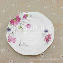 Good Quality Brandy New Bone China Unglazed Ceramic Plate