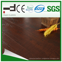 12mm Glossy Classical U Mould Brown Laminated Flooring