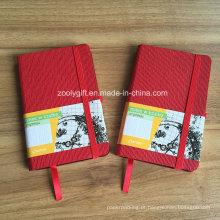 Personalizado promocional A6 PU couro Moleskine Notebook