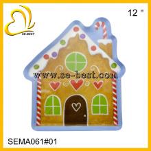 Casa em forma de placa de melamina, placa de melamina, placa de doces