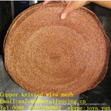 Copper 40mm width gasketing & sealing stocking knitted wire mesh