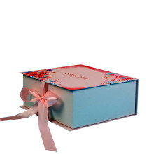 Customized Recycled Paper Gift Box Packaging Box with Ribbon