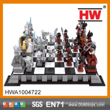 Популярные образования DIY 1142PCS Пластиковые 3D Большие шахматы игры