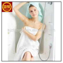 Белый быстрый сухой микрофибры полотенце отель полотенце в полотенце оптовая