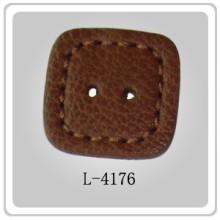 Quadrados de estofos couro botões forrados para venda