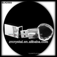 o flash de cristal de USB da forma do coração conduz o usb fura BLKD593