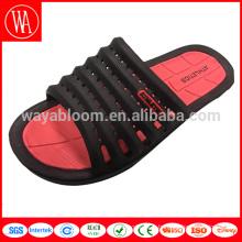 sandale unie pour homme, pantoufle garçon personnalisé, sandale à glissière convexe