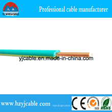 Chaqueta de PVC verde y amarillo solo cable