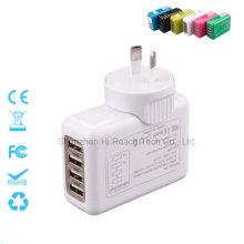 Chargeur universel à quatre ports Chargeur portable pour téléphone Chargeur à fiche interchangeable 5V = 2.1A