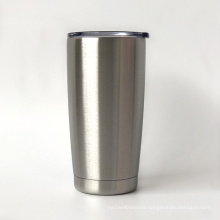 Double wall stainless steel stemless vacuum insulated wine tumbler