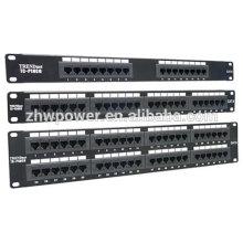 Panneau de raccordement utp 3 ports 24 ports, panneau de connexion cat6 rj45 3M, panneau de raccordement Cat6 4 ports 3M