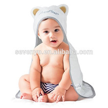 no eyes ears Soft 100% Organic Bamboo Baby Hooded Bath Towel & Baby Bath Glove Bundle
