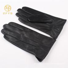 2016 guantes de cuero alineados piel del conejo de los superventas de los hombres