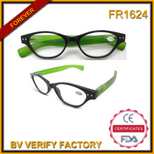 Cat Eye Glasses Frame Reading Glasses with Spring Hinge Meet CE and FDA Standard Bulk Buy From China