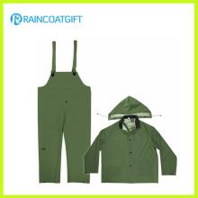 Durable PVC Polyester PVC Bib Rainsuit Rpp-004