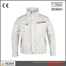 White Cotton Poly Workwear safety Jacket