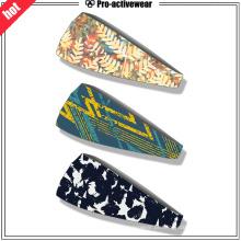 Custom Moisutr Wicking Spandex Fitness Yoga Esportes Sweatband Headband