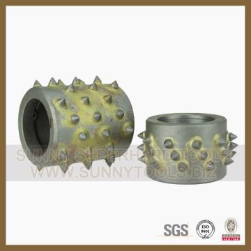 Outil de diamant de diamant martelé de Bush de 45 grains sans support en métal