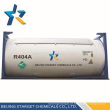 De alta qualidade e pureza misturado refrigerante R404A gás no tanque à venda