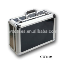 tragbare Aluminium chinesische Koffer mit schwarzem ABS Haut Hersteller heißen Verkauf