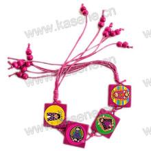 Delicate Fashion Wooden Cord Holy Catholic Rosary Bracelet