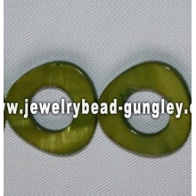triangle shape freshwater shell beads