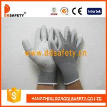 Nylon White PU Gloves, Working Gloves (DPU119)