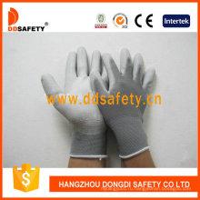Нейлон Белый PU перчатки, рабочие перчатки Dpu119