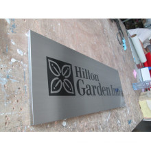 Hilton Hotel Room Wall Advertising Display Silkscreen Aluminum Plaques