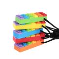 Benutzerdefinierte Silikon Block Chew Halskette Spielzeug