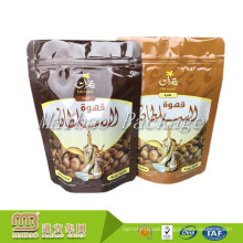 Wholesale Plastic Foil Lined Food Grade Packaging Stand Up Resealable Zip Lock Custom Printed Coffee Pouch
