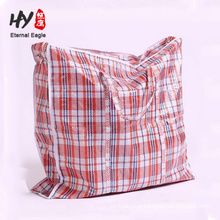 Extra large pp woven luggage zipper bag