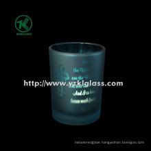 Color Double Wall Glass Candle Cup by SGS (klb130916-218)