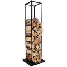Стабильная съемная металлическая железная стеллаж для штабелирования дров