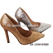 SR-14WHE989 el alto talón moderno calza los zapatos atractivos del alto talón del partido del brillo de los zapatos del alto talón de las mujeres de la manera